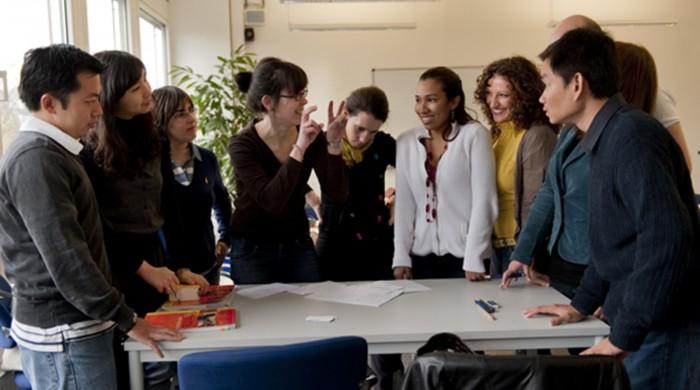 Grupo de estudiantes de alemán