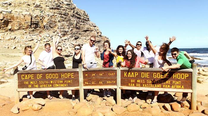 Alumnos de inglés en Ciudad del Cabo