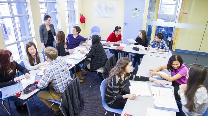 Grupo de alumnos en Vancouver