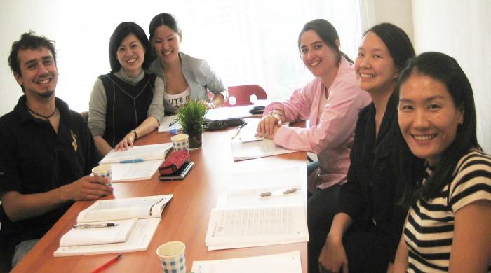 Estudiantes de chino en Shangai