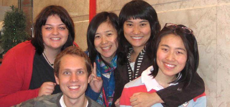 Estudiantes en Shangai