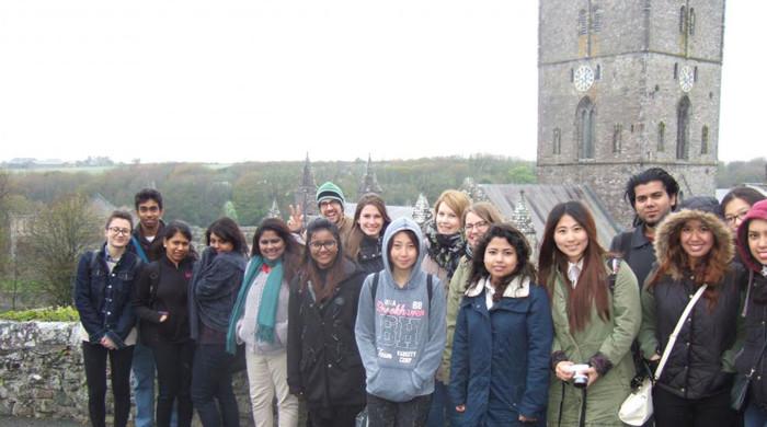 estudiantes en Aberystwyth