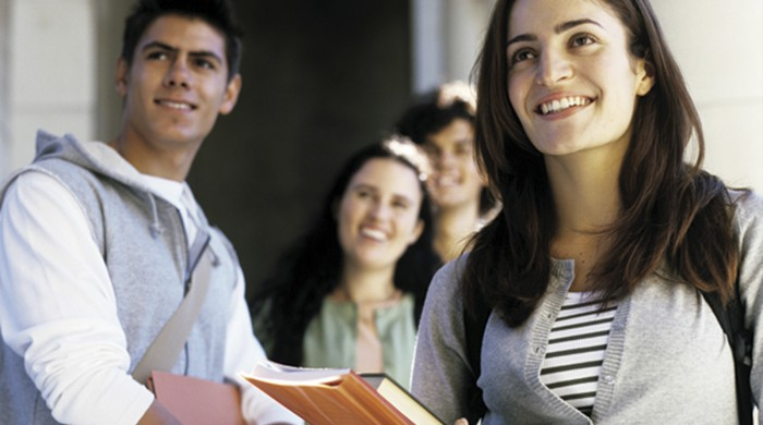 Grupo de estudiantes en Munich