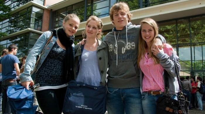 Estudiantes de francés en Vichy