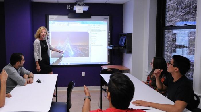 Clases reducidas en la escuela de inglés en Boston