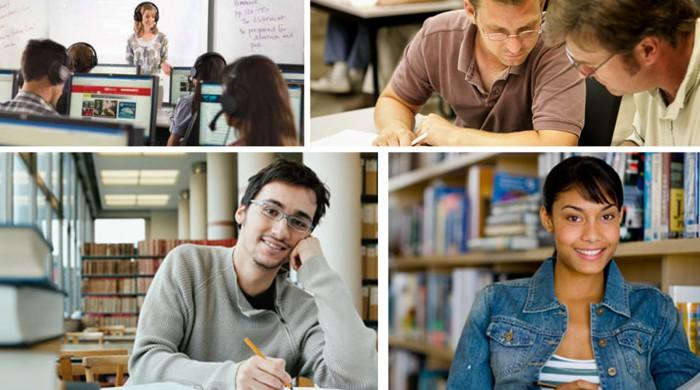 Alumnos de inglés en UCLA