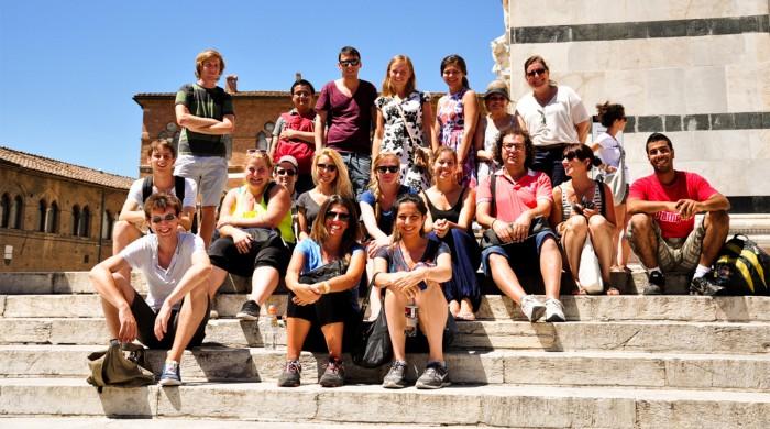 Alumnos de italiano en Roma