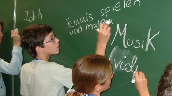 alumnos de aleman