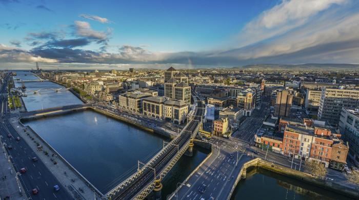 vista de la ciudad dublin