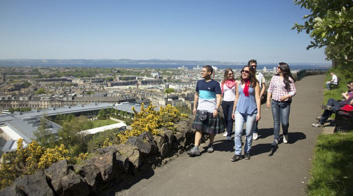 Estudiantes de ingles en Edimburgo