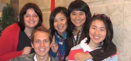 Estudiantes durante el curso
