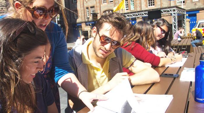 Estudiantes del curso de inglés jurídico en Edimburgo